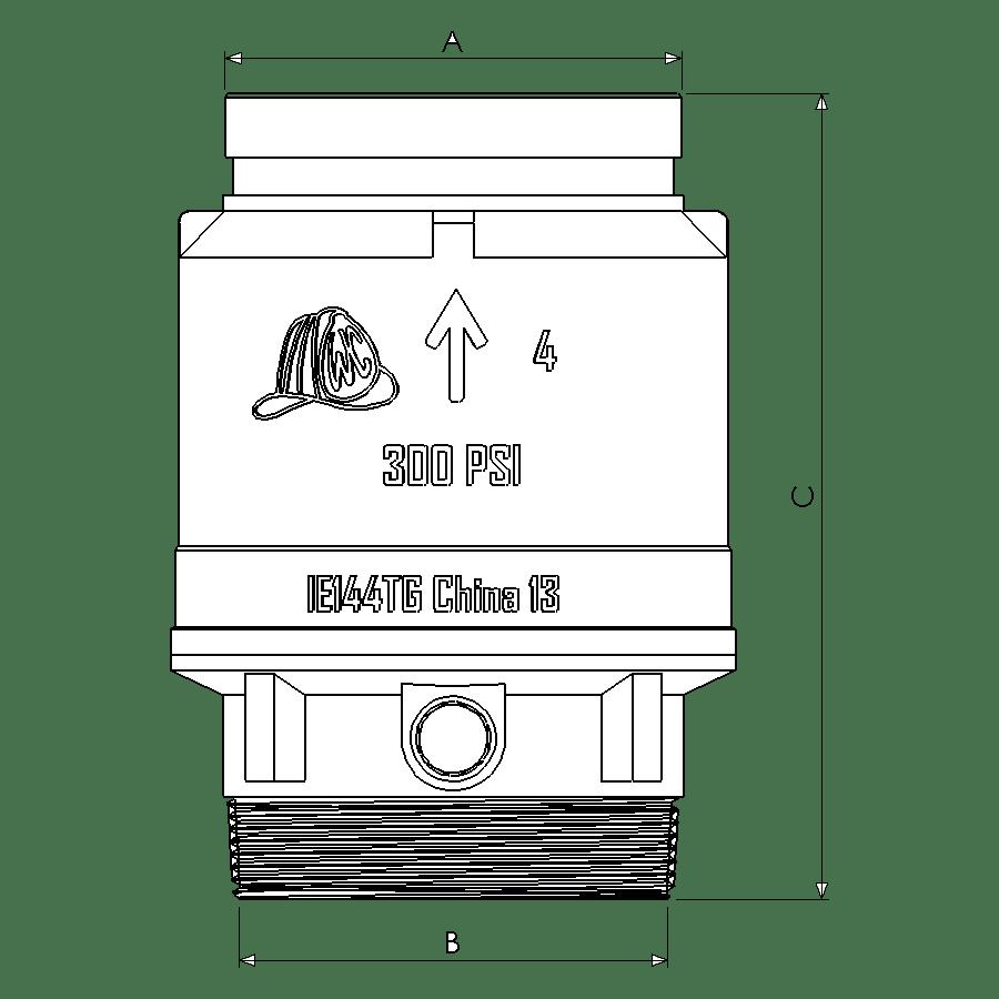 IE-144TG Dimensional Diagram